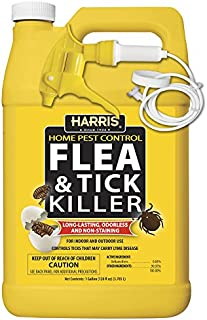Harris Flea and Tick Killer, Liquid Spray with Odorless and Non-Staining Extended Residual Kill Formula (Gallon)
