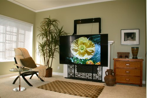 ComfortVu Electronic/Remote Controlled TV Mount. Over The Fireplace, Conference Rooms, Video Gaming, Other Applications. Made in USA.