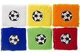 Schnooridoo 6 x Schweißband Fußball 7x7 cm Armband Party Mitgebsel Kindergeburtstag Give Away