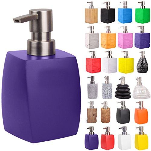 Seifenspender | viele schöne Seifenspender zur Auswahl | modernes, stylisches Design | Blickfang für jedes Badezimmer (Wave Lila)