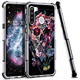 HUIQUAN for Samsung Galaxy A21 Phone Case, Hybrid Protective TPU Case, Shockproof Bumper Cover with Beautiful Design (Black)