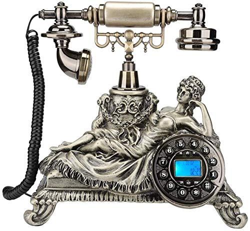 ZHANGNING Teléfono Fijo con Cable Teléfono Fijo de Estilo Retro FSK y DTME ID de Llamada Vintage Antiguo Teléfono Teléfono Número de Llamadas Número de Llamada Teléfono Fijo Retro