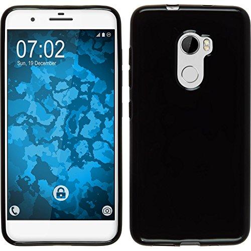 PhoneNatic Case kompatibel mit HTC One X10 - schwarz Silikon Hülle Cover
