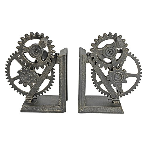 Cool iron steampunk bookends for your husband on your anniversary
