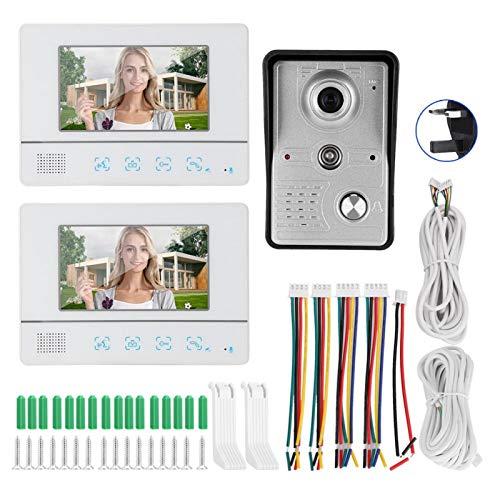 Kit de teléfono de puerta Video portero 2 Monitores Apartamentos (regulación británica)