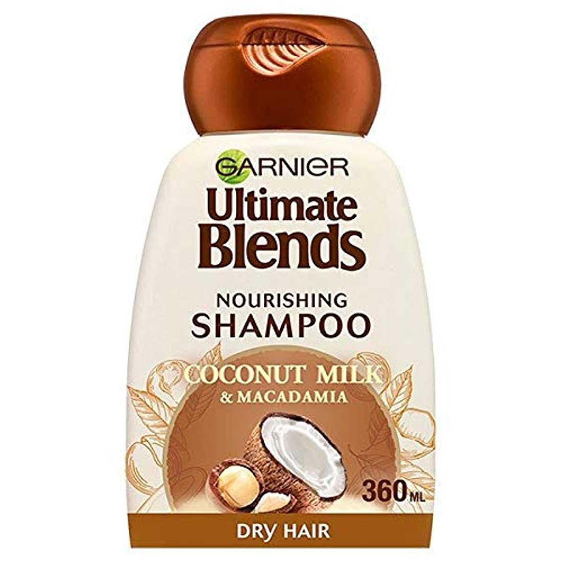 カウント添付量で[Garnier ] 究極のブレンドココナッツミルクドライヘアシャンプー360ミリリットル - Ultimate Blends Coconut Milk Dry Hair Shampoo 360ml [並行輸入品]