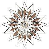 YANGYUAN Nordic Reloj Relojes de la Manera Creativa del Dormitorio Mute Cartas de la Pared de Estar la Pared del Reloj de Lujo Pared del Sitio de la decoración casera Luz