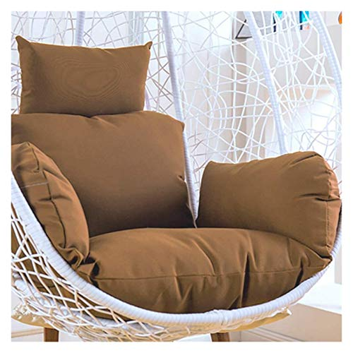 LLNN Home Decoration Swing Chair Cushion Egg Nest Swing Chair Cushion for Outside,Thicken Hanging Egg Hammock Chair Cushion Without Stand Patio Hanging Basket Hanging Basket Furniture Cushion