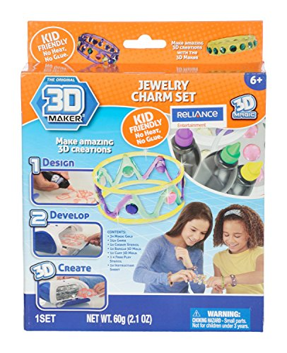 3D Magic 82002 3D Maker Jewellery Expansion Set, Multi Colour