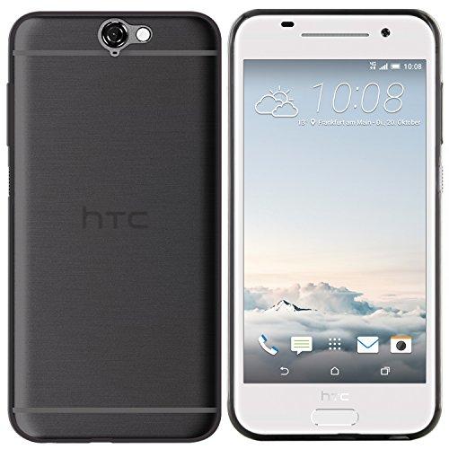 moodie Silikonhülle für HTC One A9 Hülle in Anthrazit-transparent - Hülle Schutzhülle Tasche für HTC One A9