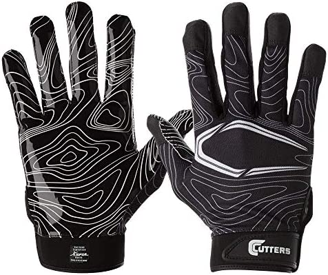 Cutters Football Glove Game Day Receiver Silicone Grip Glove for Receivers Adult and Youth Sizes product image