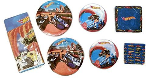Hot Wheels Party Bundle 9' Plates (16) 7' Plates (16) Lunch Napkins (16) Beverage Napkins (16) Table Cover (1)