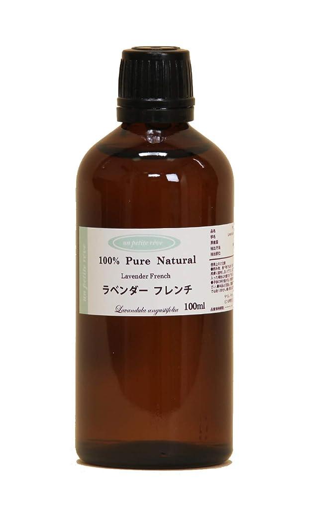 誤解させる捕虜スクワイアラベンダーフレンチ 100ml 100%天然アロマエッセンシャルオイル(精油)