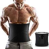 ZOHUMI Men Waist Trimmer,Widening Waist Trainer Sauna Belt AB Belt with Removable Pocket for Weight Loss