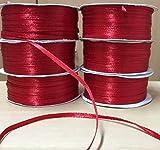Nastro in raso Rosso 3 mm x 100 metri