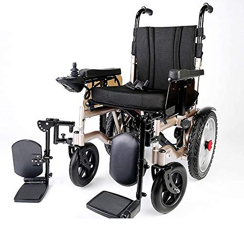 Silla de ruedas eléctrica Foldawheel (batería de litio) abierta/plegable 1s, ligera y compacta silla eléctrica para personas mayores con discapacidad
