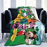 VigorPow mic-Key Mouse Club-House Ultra Soft Flannel Fleece Throw Blanket Warm Couch Sofa Blankets for School Home Office 60' x50