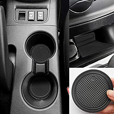 Auovo Anti Dust Mats for Nissan Sentra 2019 2018 2017 2016 Custom Fit Door Pocket Liners Cup Holder Console Mats Interior Accessories(15pcs/Set, Black)