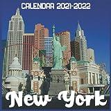 New York Calendar 2021-2022: April 2021 Through December 2022 Square Photo Book Monthly Planner New York, small calendar