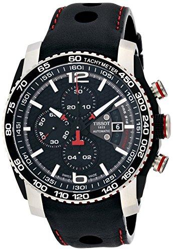 Tissot PRS 516 Extreme Automatic Chronograph Black Dial Black Rubber Mens Watch T0794272605700