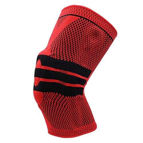 Transpirable Rodillera Deportiva Rodilla Brace prima de compresión de grado médico de la manga de la rodilla de la rodilla de apoyo alivio del dolor y transpirable for correr y baloncesto, unisex, gri