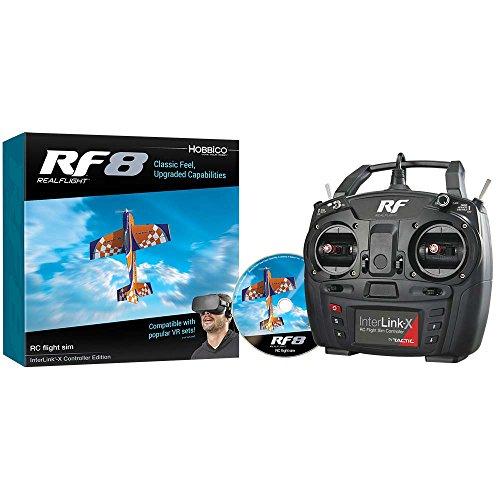 Great Planes RealFlight RF-8 RC Radio Control Flight Simulator Software DVD with Interlink-X Transmitter Mode 2