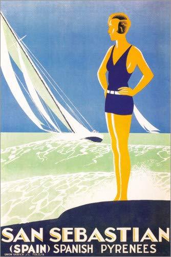 Posterlounge Cuadro de metacrilato 40 x 60 cm: San Sebastian (English) de Travel Collection