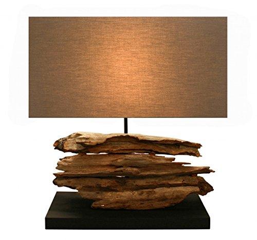 Design Lampe Stavanger en bois flotté (foncé)