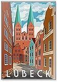 Sommertag in Lubeck Deutschland - Retro Style Poster