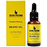 Beard Oil 1 fl oz by Seven Potions. Sweet and Woody Scented Beard...