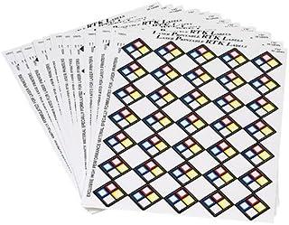 "Brady 59252, MarkWare 1"" x 1"" Vinyl Laser Printable Vinyl Right-to-Know Label Blank, 3 Packs of 25 pcs"