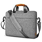 Inateck Sacoche Ordinateur Portable 14 Pouces 360° Protection Compatible avec Chromebook Notebook Ultrabook 14, MacBook Pro 15 2016-2019, Matebook D15, Dell XPS 15, Housse Antichoc Bandoulière - Gris