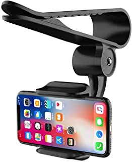 Sun Visor Car Cell Phone Holder, Universal 360 Rotating Car Mount Support Clip Bracket Compatible for iPhone Xs/Xs Max/Xr/...