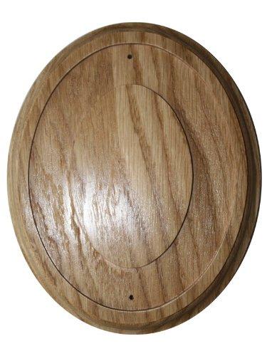Rahmen Holz Oval für Emaille Schild Holzrahmen Oval (Eiche) für Emailschilder.
