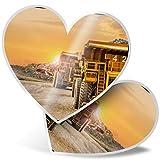 Impresionante pegatinas de corazón de 7,5 cm – Pegatinas divertidas para portátiles, tabletas, equipaje, reserva de chatarras, neveras, regalo genial #2582