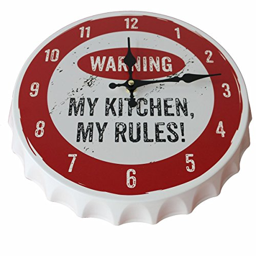 Contento Wanduhr CROWNS, MY KITCHEN, MY RULES! Metall | CO-866809 | 4028126243367