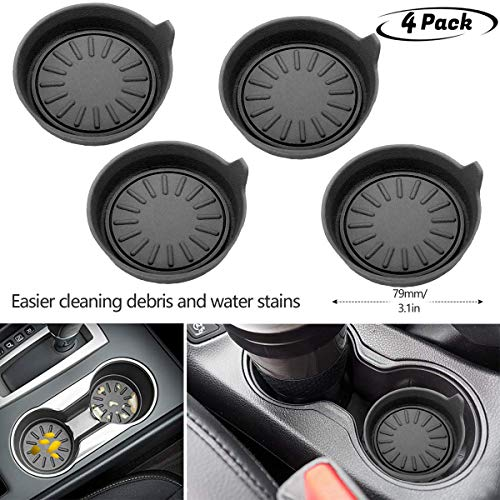 4Pack Soft Groove Coaster,Keep Your Groove Clean Universal All car Models Cup Holder Coasters
