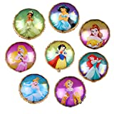 9PCS Disney Princess Balloons for Kids Birthday Baby...
