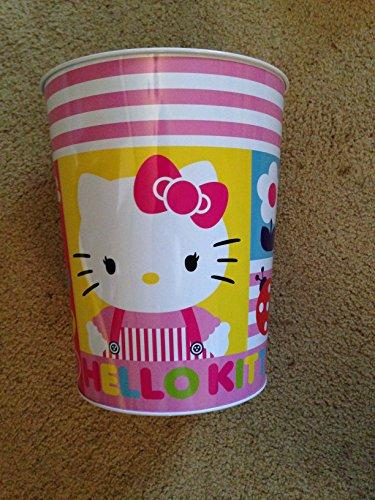 Hello Kitty Tin Trash Can