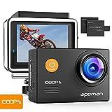 APEMAN Action Cam A70, 1080P Full HD WIFI 14MP Unterwasserkamera Digitale Wasserdichte 30M Helmkamera (kostenlose Zubehör, 2x1050mAh verbesserten Batterien)