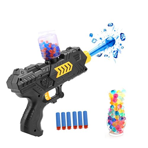 CloverTale 2-in-1 Multifunction Foam Toy Blaster Gun Dart Gun for Kids Shooting Gun with 6 PCS Soft EVA Bomb and 2000PCS Polymer Ballsfor Kids Hand Gun Toy (1 Pack)