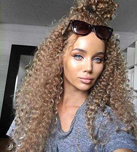 Hetto Remy Weaving Echthaar 18 Zoll Haarverlängerungen 100g/bundle Brasilianisches Haar Remy Wavy #27 Caramel Blonde Echthaar Weben Bundles Echthaar Extension Versaute Lockige