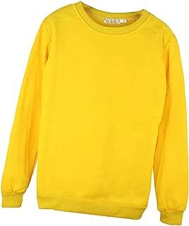Baoblaze Unisex Sweatshirt Oversized Loose Outwear Long Sleeve Autumn Winter Round Neck Sweater,Yellow