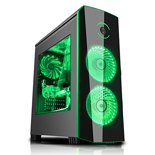 PC COMPUTER FISSO GAMING ASSEMBLATO AMD RYZEN 3 1200 QUAD CORE FINO A 3,4 Ghz GRAFICA NVIDIA GEFORCE GTX 1050 2GB CASE ITEK ORIGIN VERDE (RAM 8GB HARD DISK 2TB SSD 240GB)