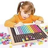 SXPC Bloques de píxeles de Madera para niños, Rompecabezas de Juguete Montessori, Juguete de educación temprana, Rompecabezas de geometría, Tangram, Juego de Madera, Juguetes para niños