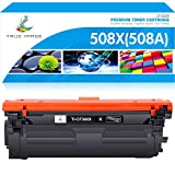 True Image Compatible Toner Cartridge Replacement for HP 508A 508X CF360A CF360X HP Color Laserjet Enterprise M553 M553dn M553n M553x MFP M577z M577f M577dn M577c M577 Printer Ink (Black, 1-Pack)