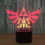 "WoloShop LED-Lampe/LED-Nachtlicht mit Farbwechsel, Design: ""Triforce"" aus ""The Legend of..."