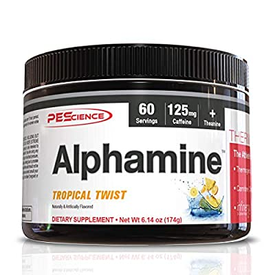 PEScience Alphamine, Tropical Twist, 60 Scoops, Versatile Thermogenic Energy Powder