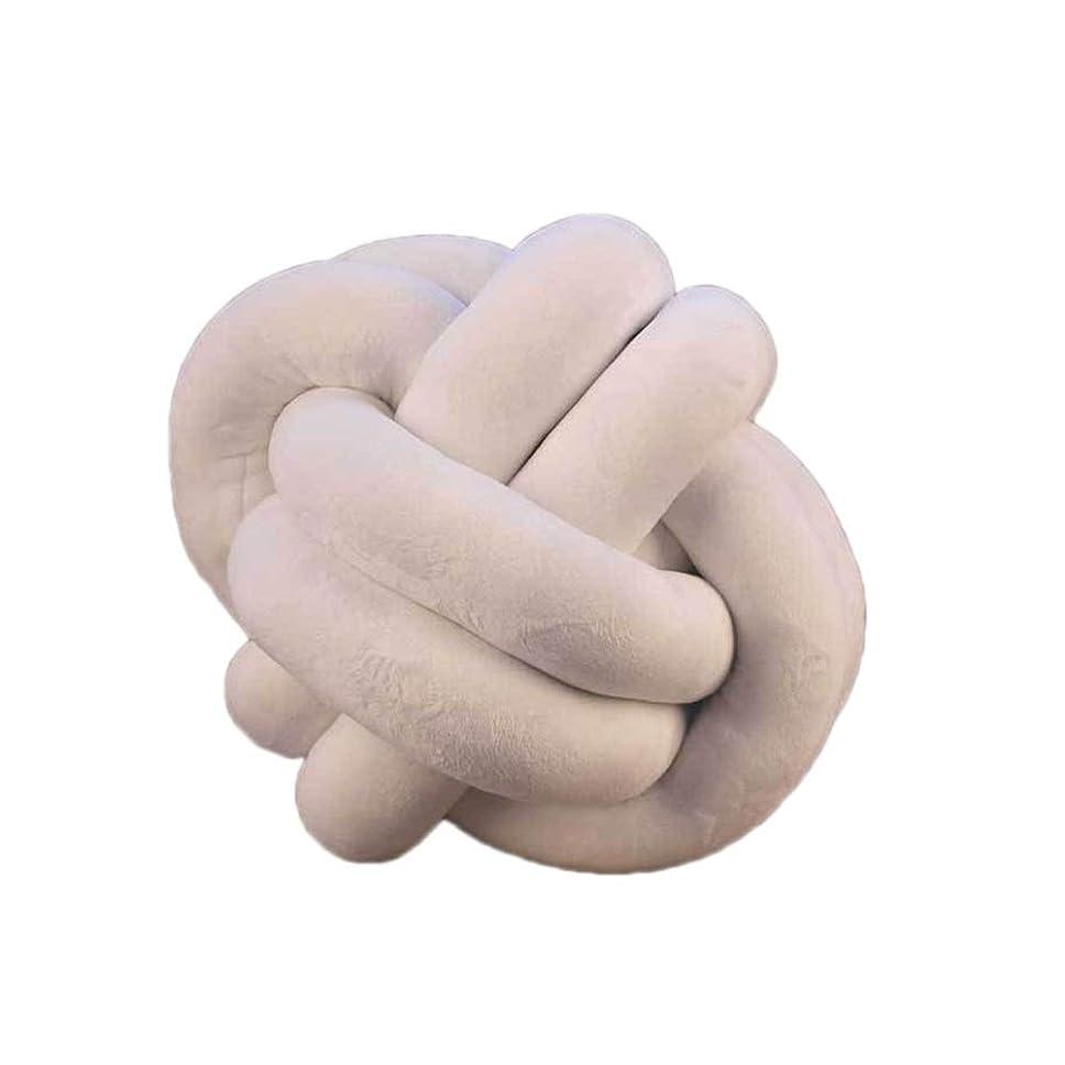 ために確率便利さスーパーソフト短いぬいぐるみ手作りの結び目ぬいぐるみ枕、ソフトかわいいクッションボール、友達3サイズのリビングルームホームカーギフト用ジュエリー (Color : 白, Size : 25cm/10in)