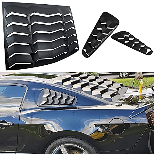 Rear & Side Window Louvers Windshield Sun Shade Cover in GT Lambo Style for Ford Mustang 2005 2006 2007 2008 2010 2011 2012 2013 2014